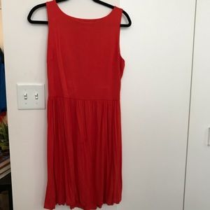 Loft comfy red/orange dress with back cut-out